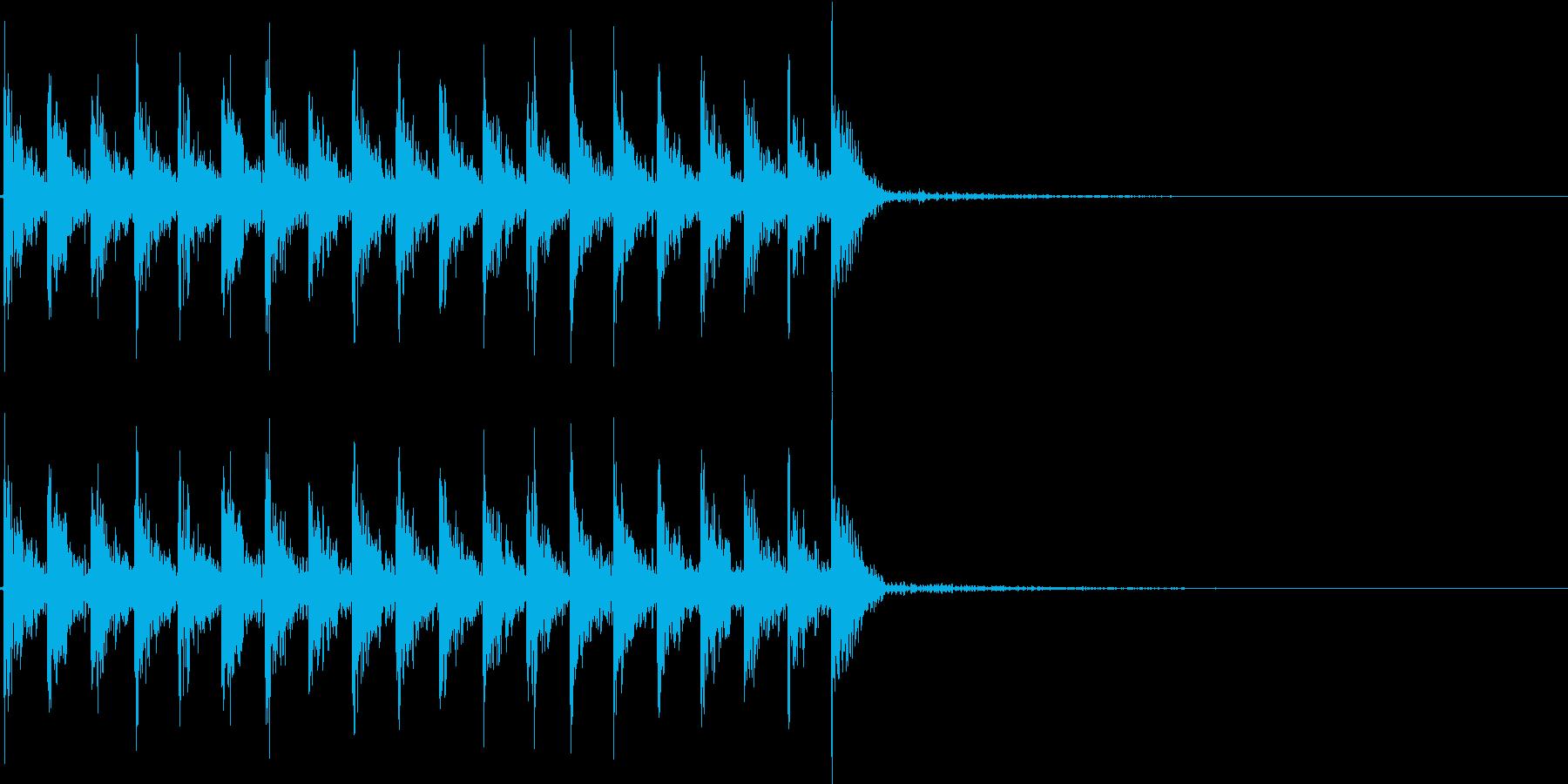 ダダダ...。発砲音E(連射・長め)の再生済みの波形