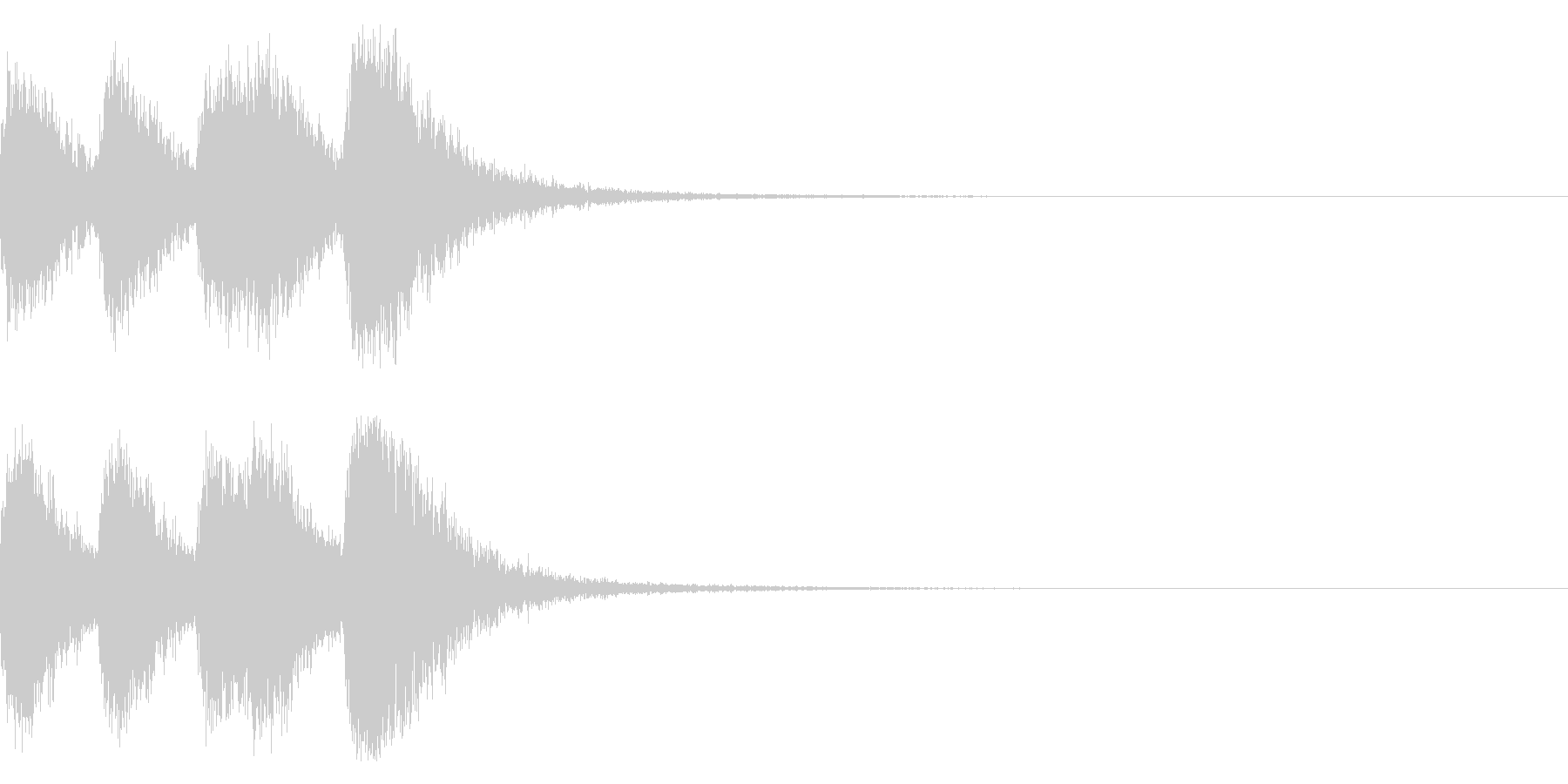 オーケストラヒットのジングル! 04の未再生の波形