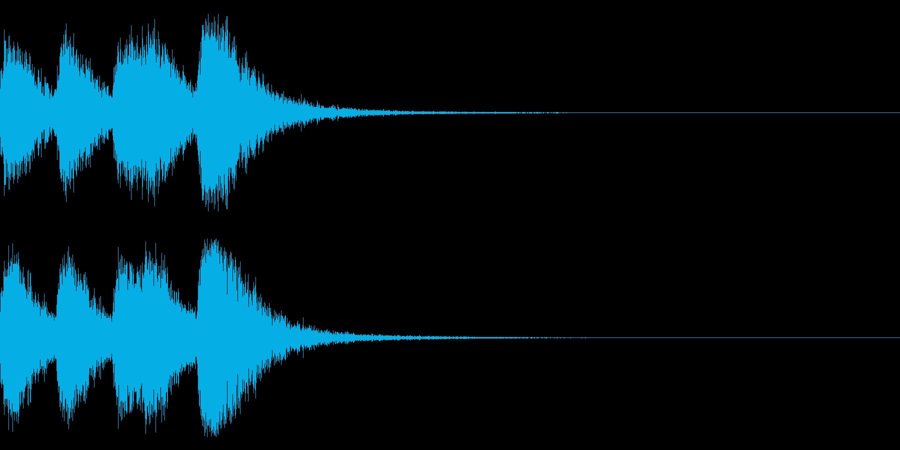 オーケストラヒットのジングル! 04の再生済みの波形