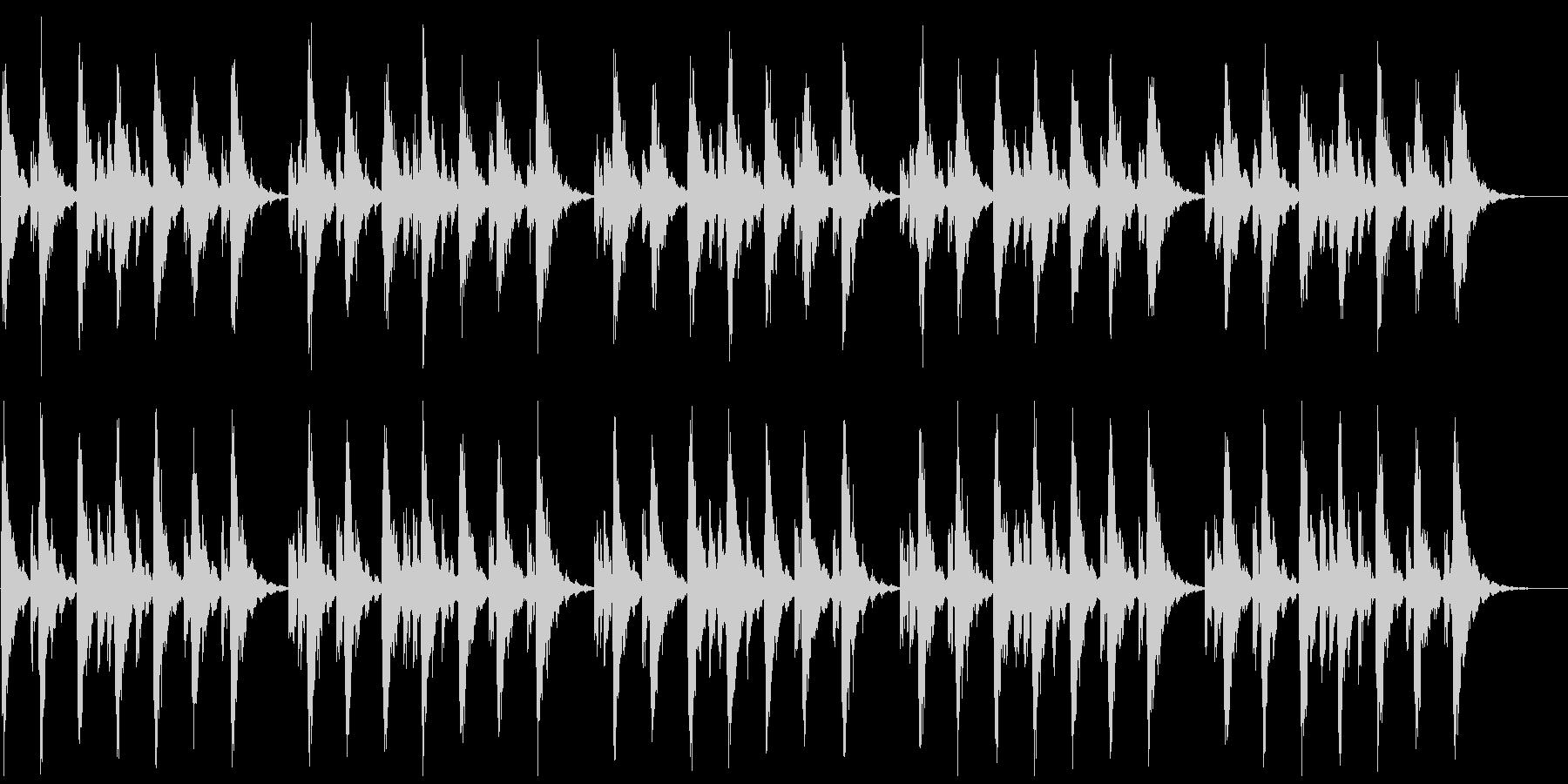 シンセの心地よいBGM(パッドなし)の未再生の波形
