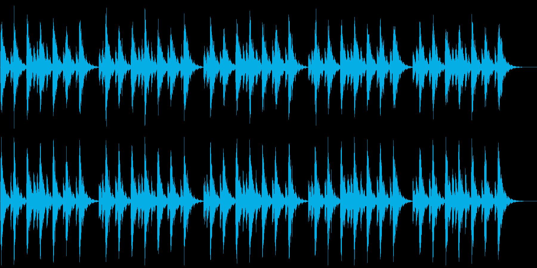 シンセの心地よいBGM(パッドなし)の再生済みの波形