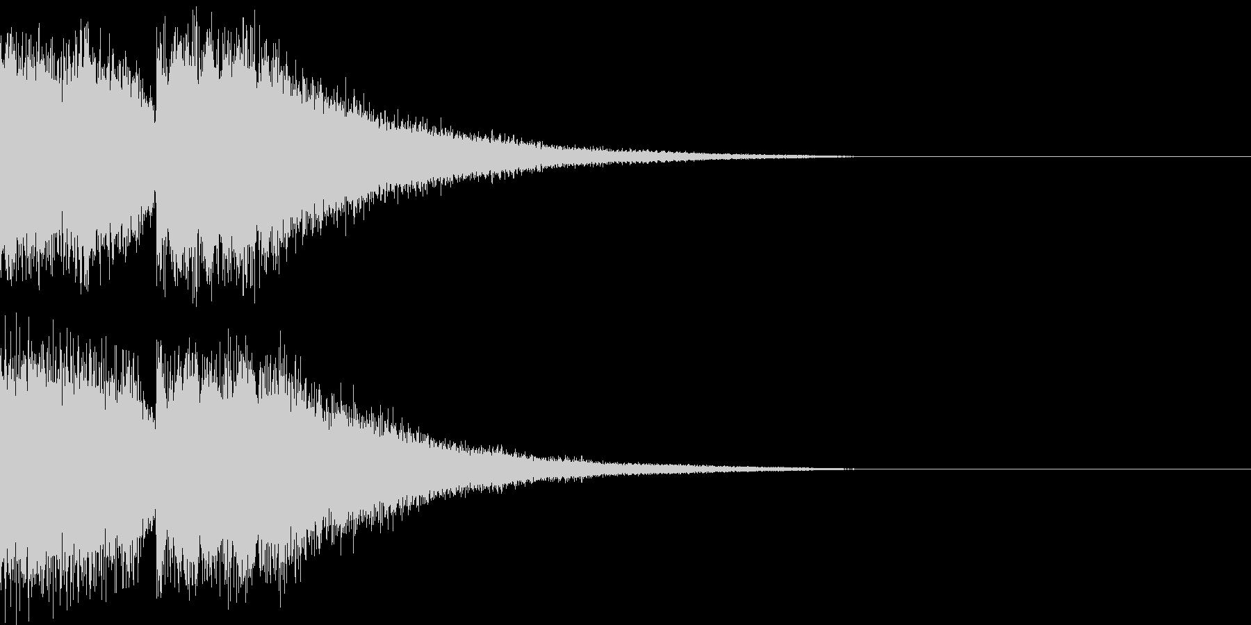 スペーシーな終わり方の未再生の波形