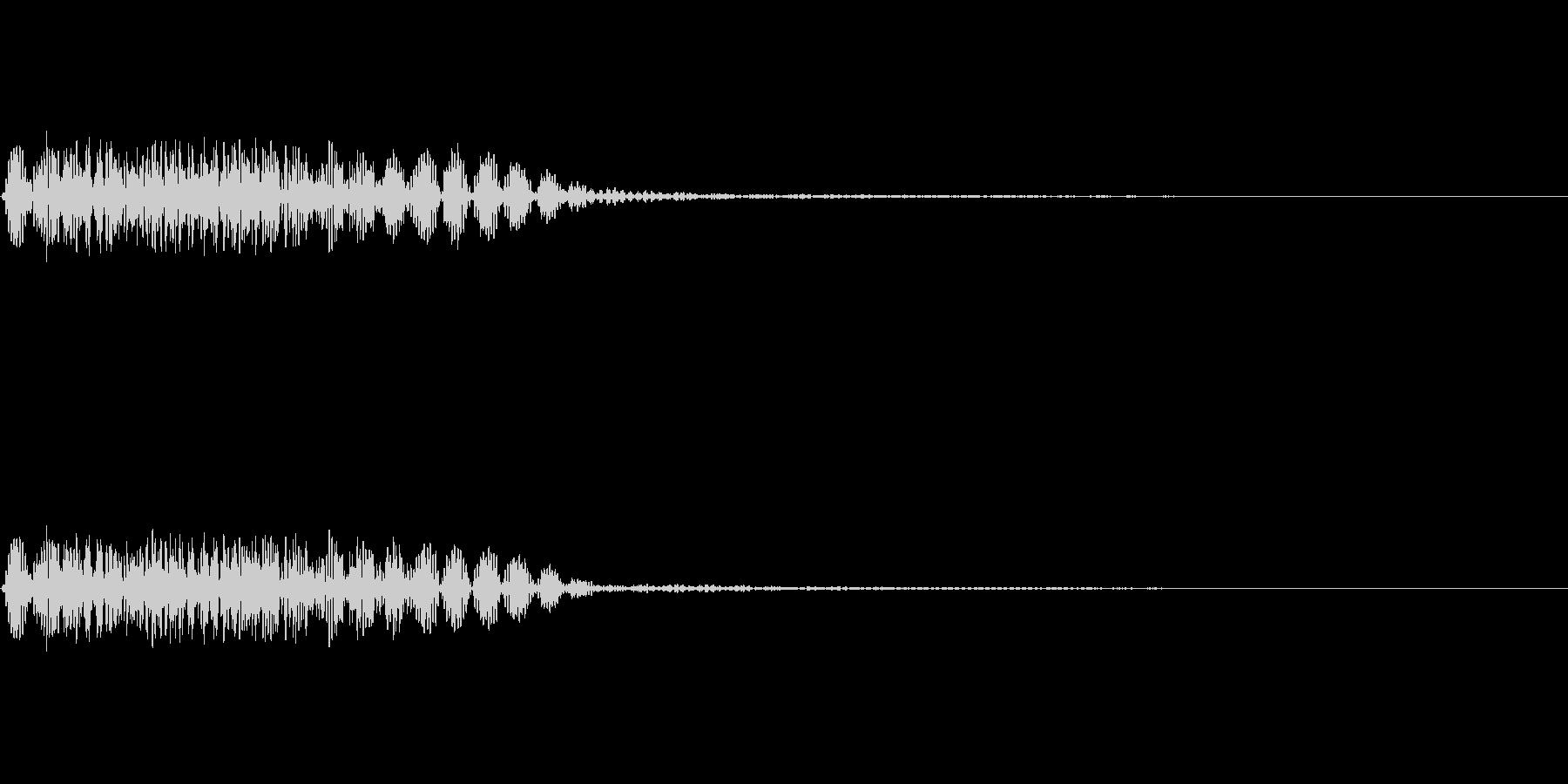 魔方陣などからの出現音の未再生の波形