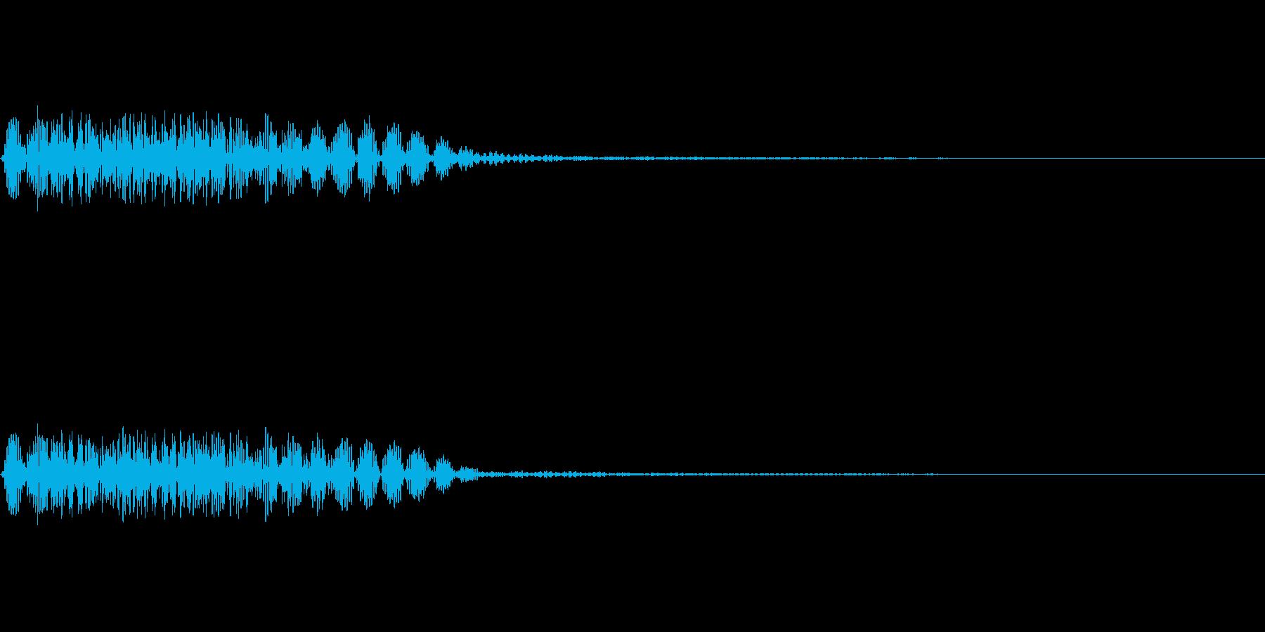 魔方陣などからの出現音の再生済みの波形