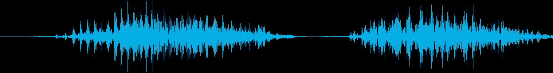 スマイルハンマー ビヨッ(低め)の再生済みの波形