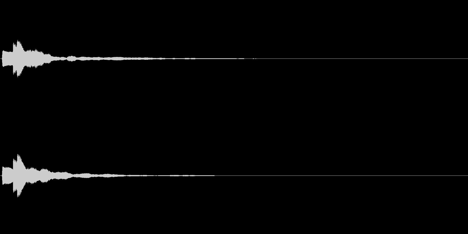 【ひらめき03-2】の未再生の波形