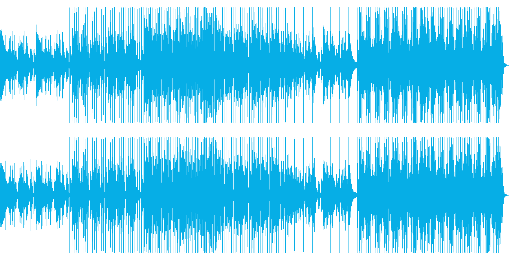 夏/トロピカル/海/BGM/EDMの再生済みの波形