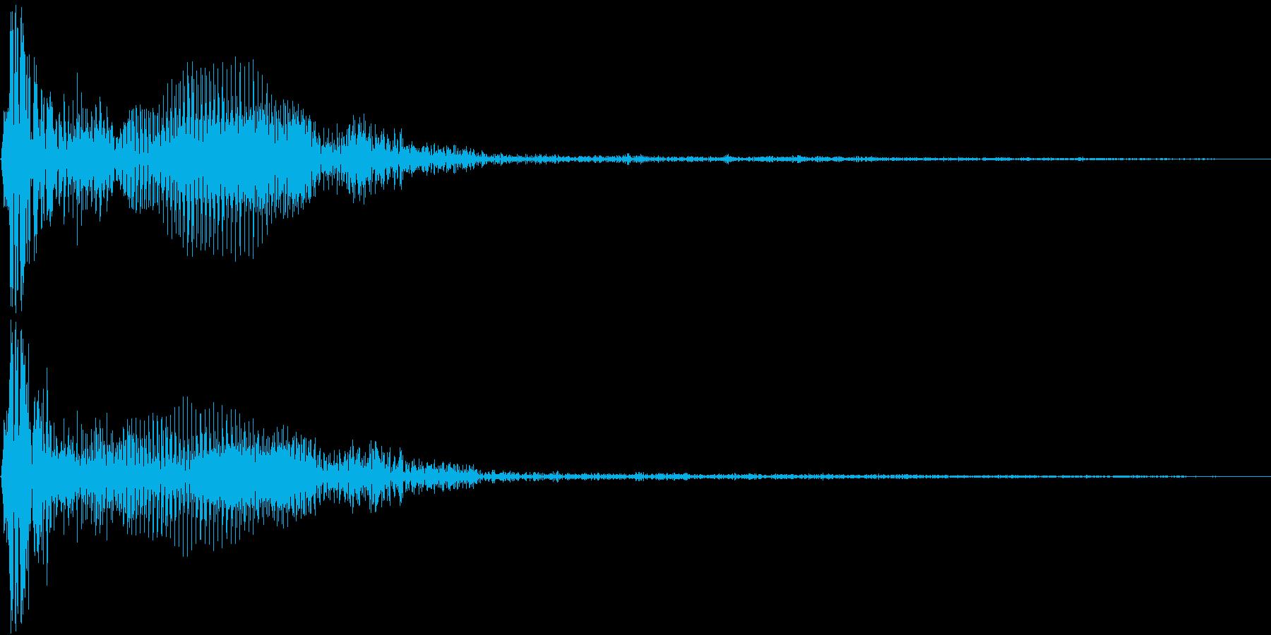 Mogura モグラ叩きピコハンHit音の再生済みの波形