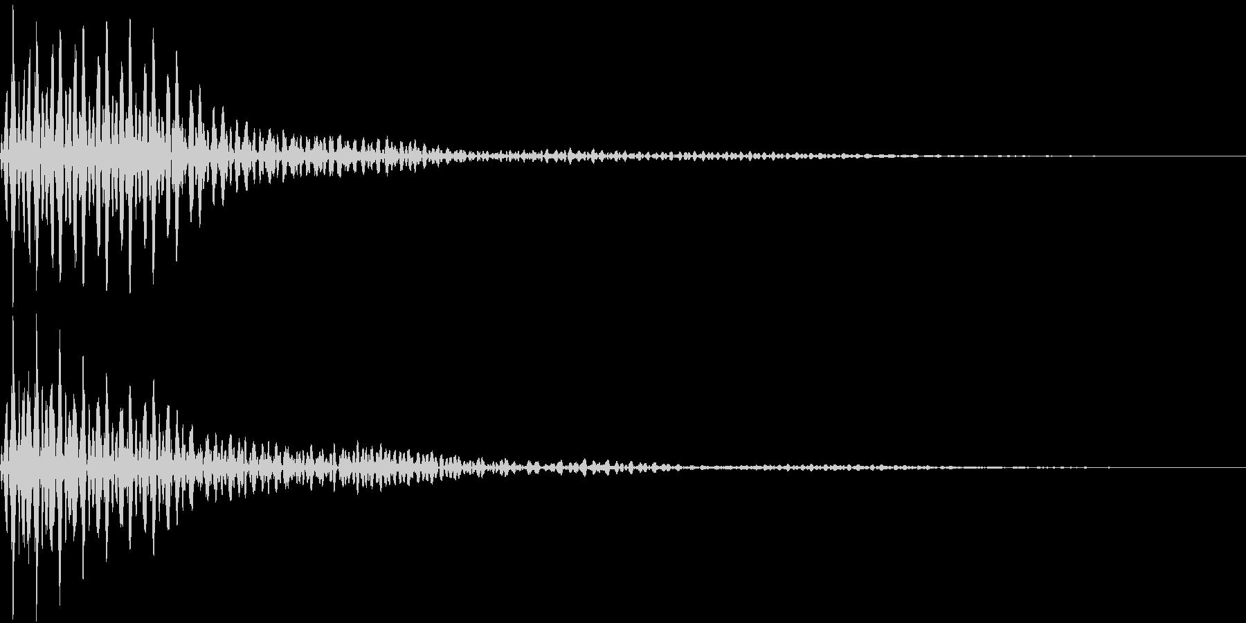 Button 決定・キャンセル 重低音の未再生の波形