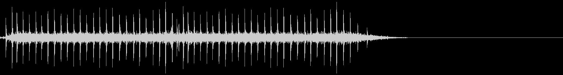 昔の時刻表のパタパタした音の未再生の波形