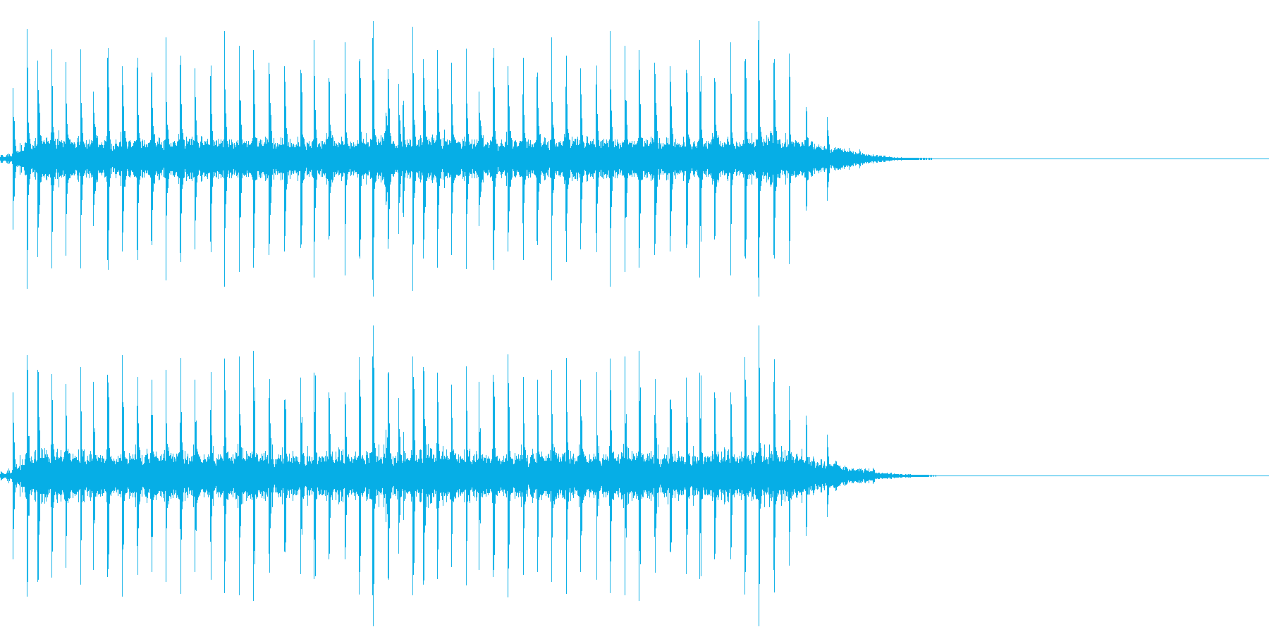昔の時刻表のパタパタした音の再生済みの波形
