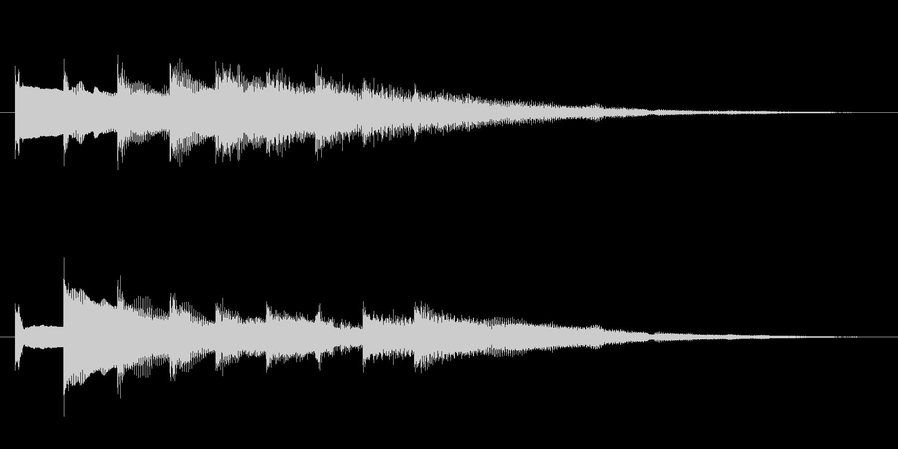 ベルの効果音の未再生の波形