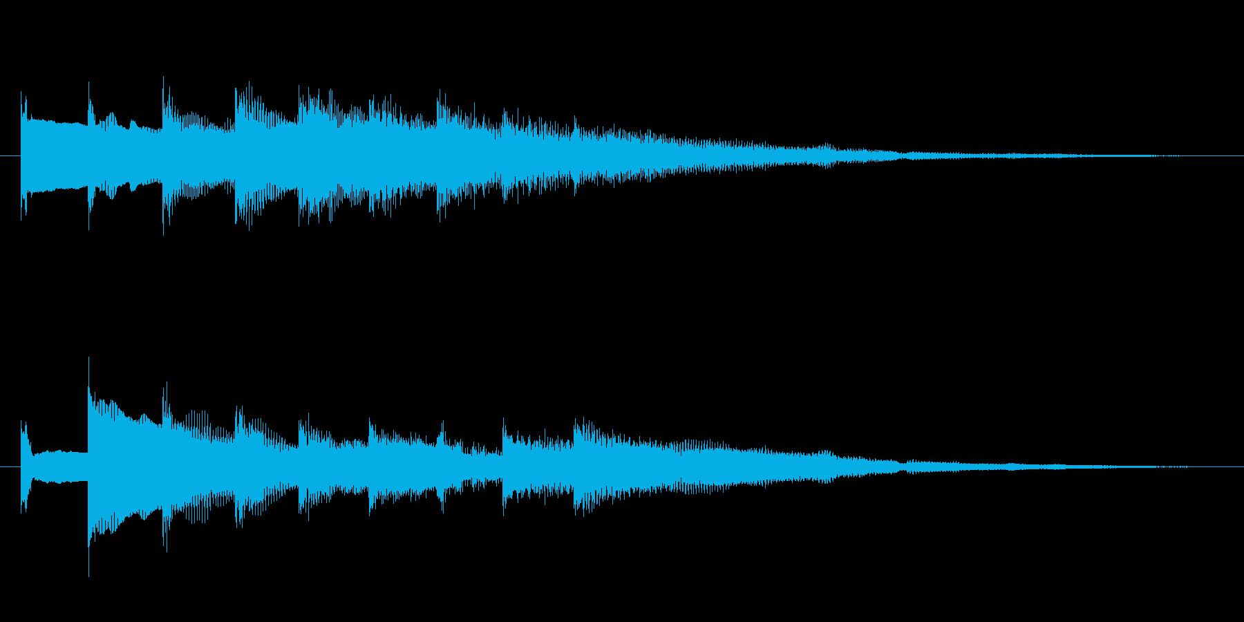 ベルの効果音の再生済みの波形