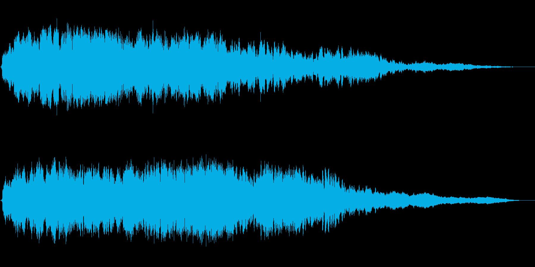 「ピアノの旋律が幻想的なBGM」の再生済みの波形