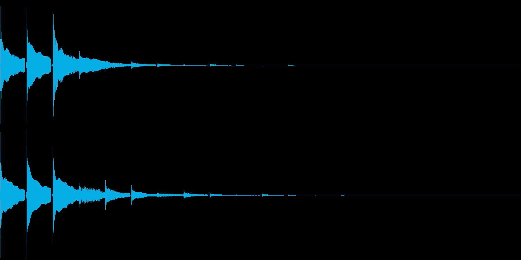 Cash 仮想通貨等の決済・認証・通知音の再生済みの波形