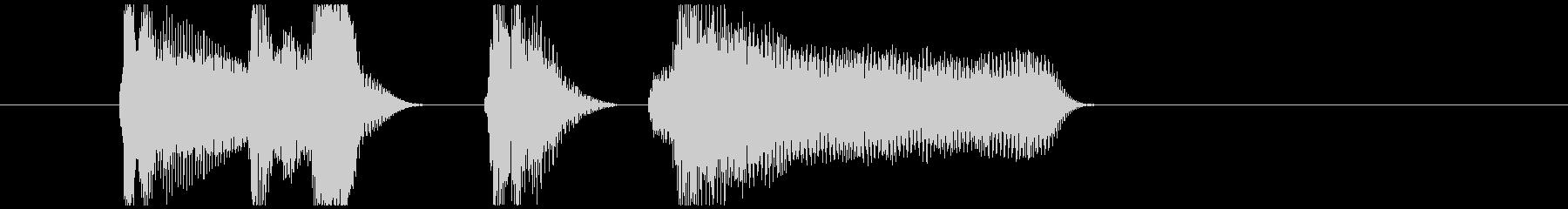 アコーディオン北欧系ほのぼのジングルの未再生の波形