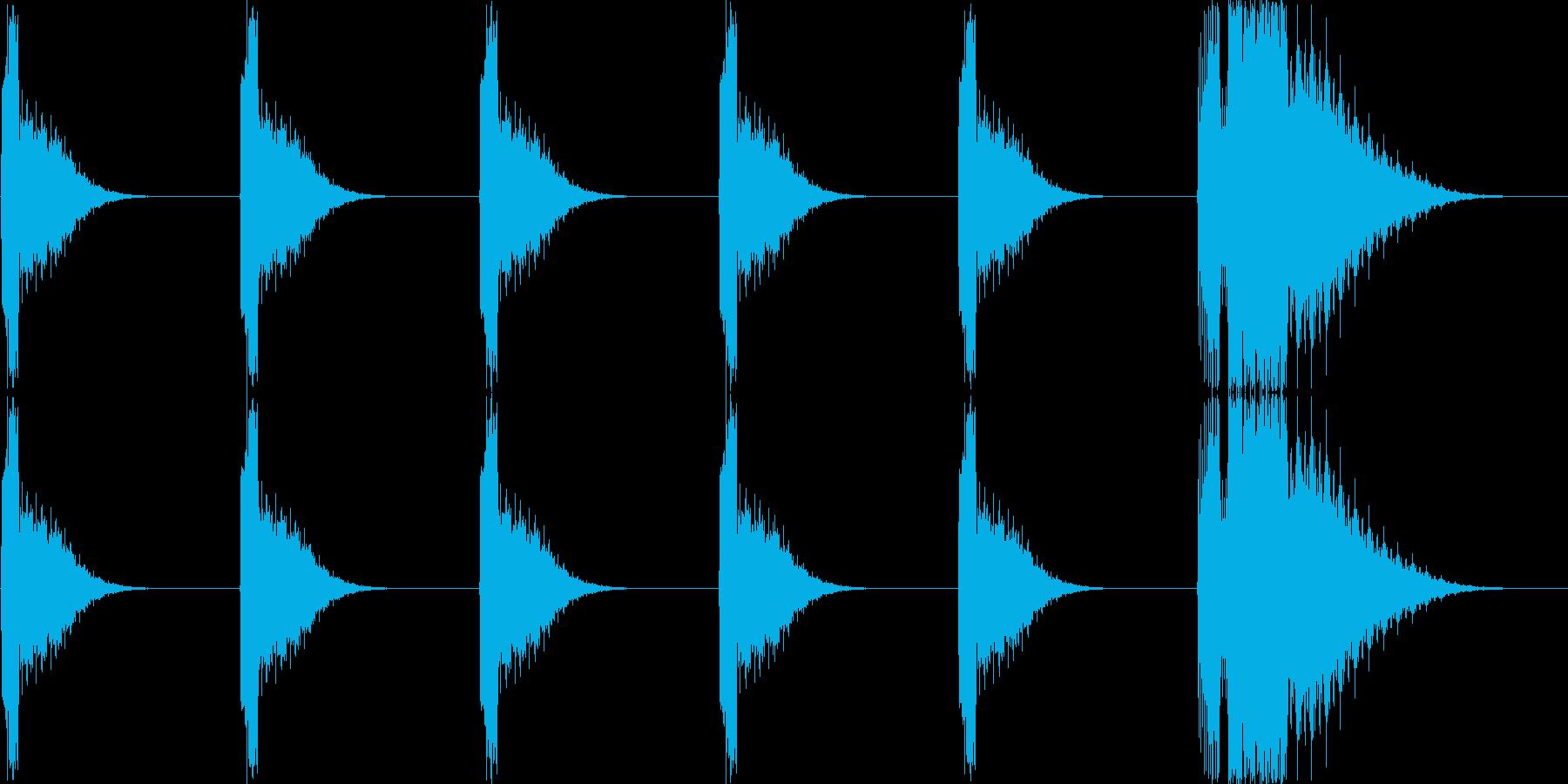 カウントダウン(543210)の再生済みの波形