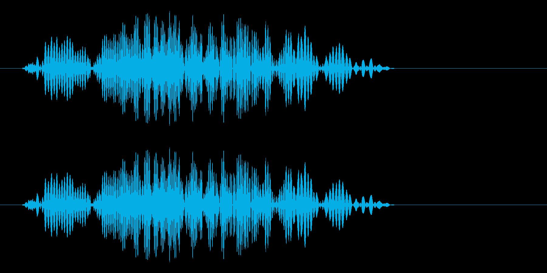 ヒュッ!(素早い動きのある音)の再生済みの波形