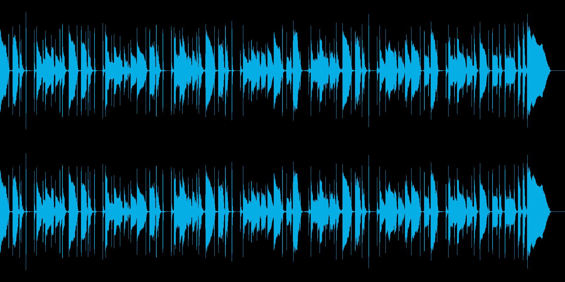 ノリのいいスラップベースによるBGMの再生済みの波形