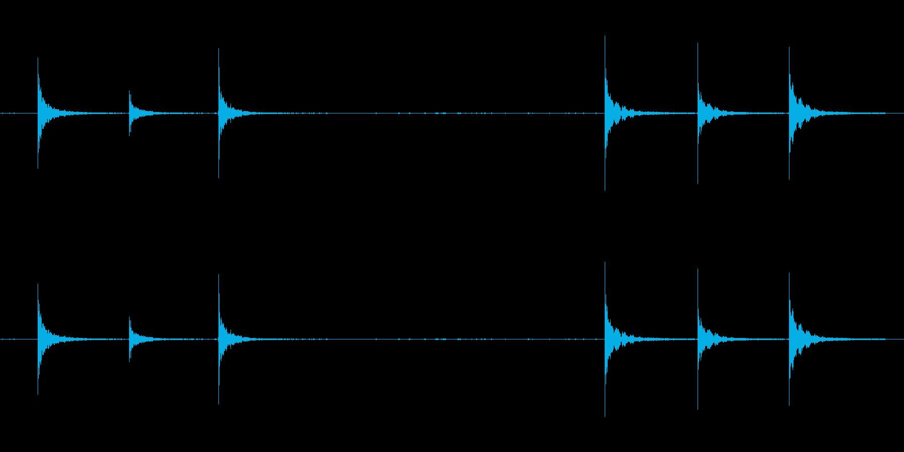 金属音、カンカンカンの再生済みの波形