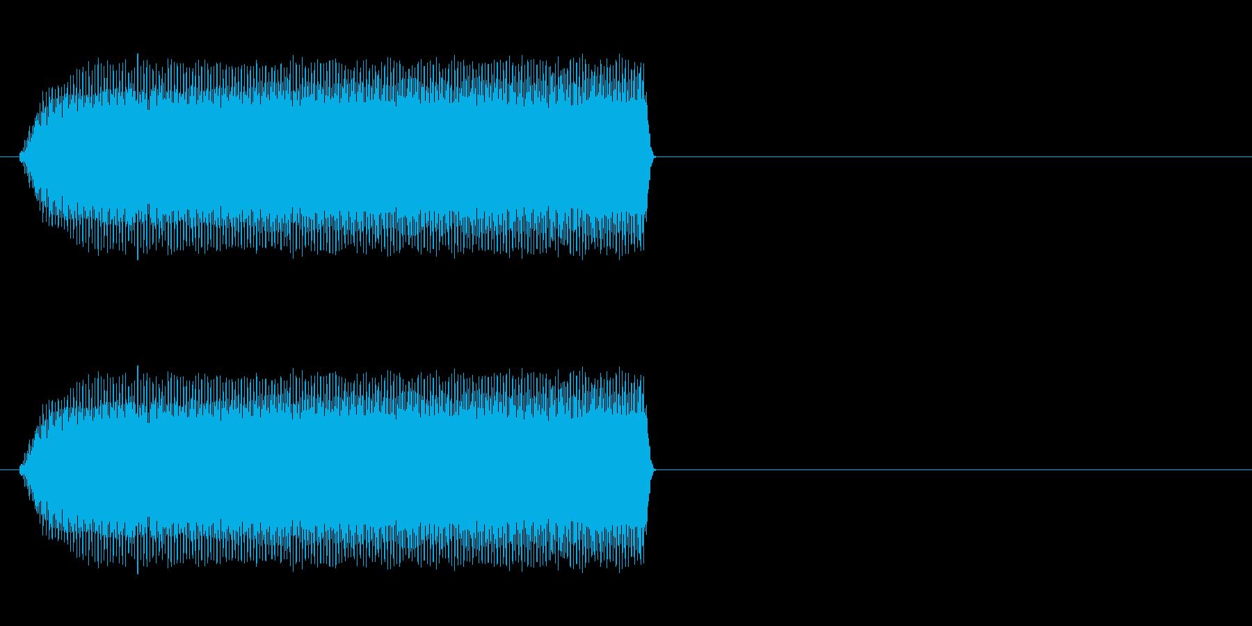 携帯用バイブ音源大きい音の再生済みの波形