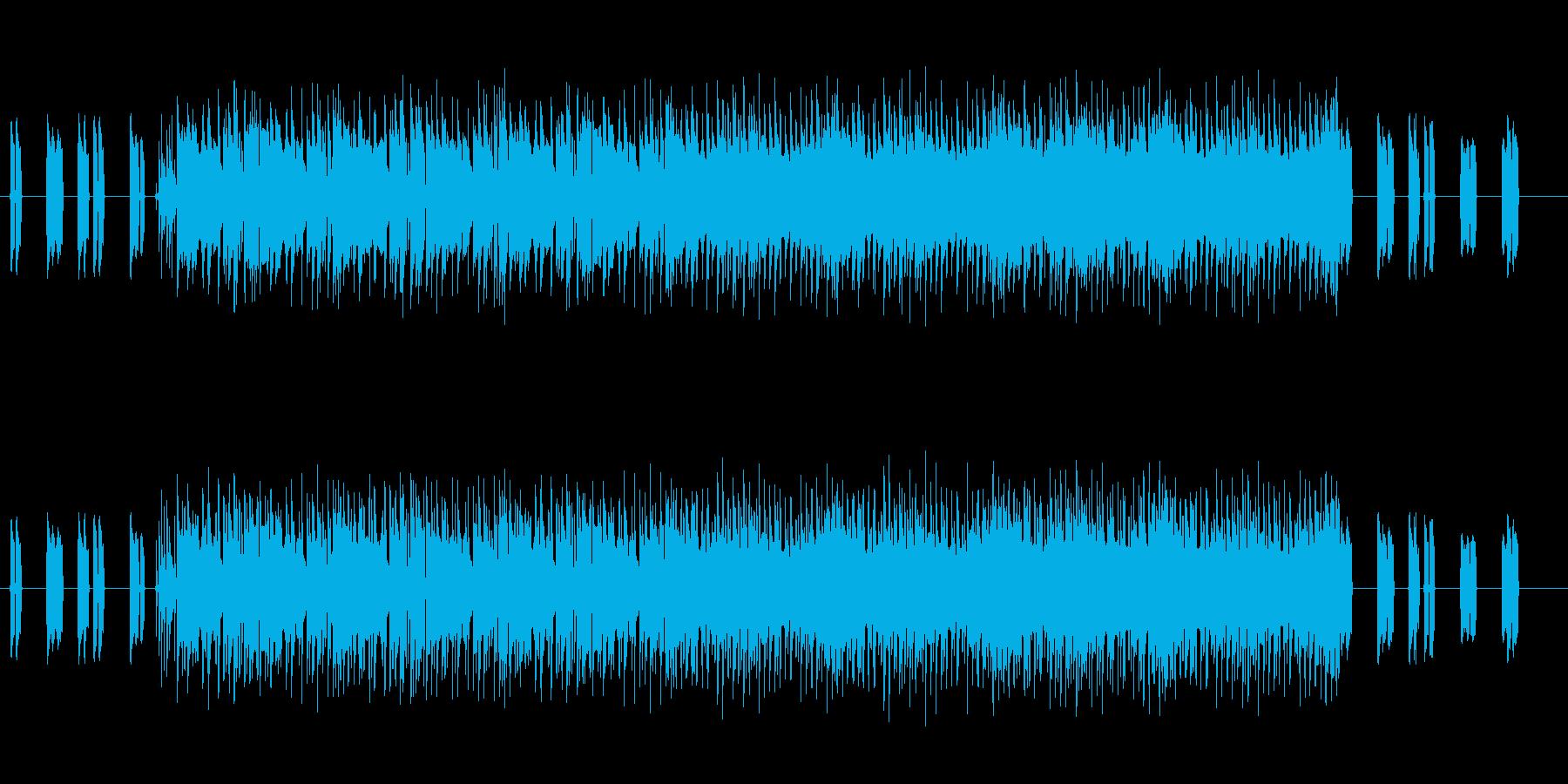 ドキドキでハラハラなゲームBGMの再生済みの波形