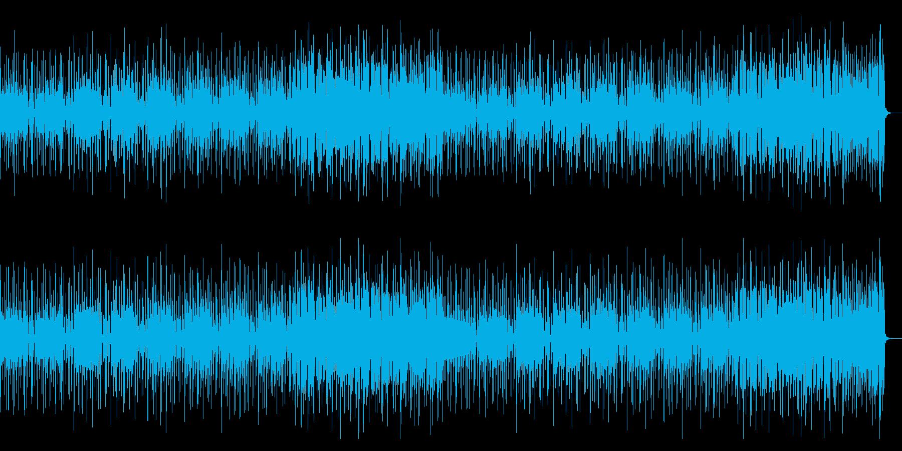 80年代風でクールなエレキファンクの再生済みの波形