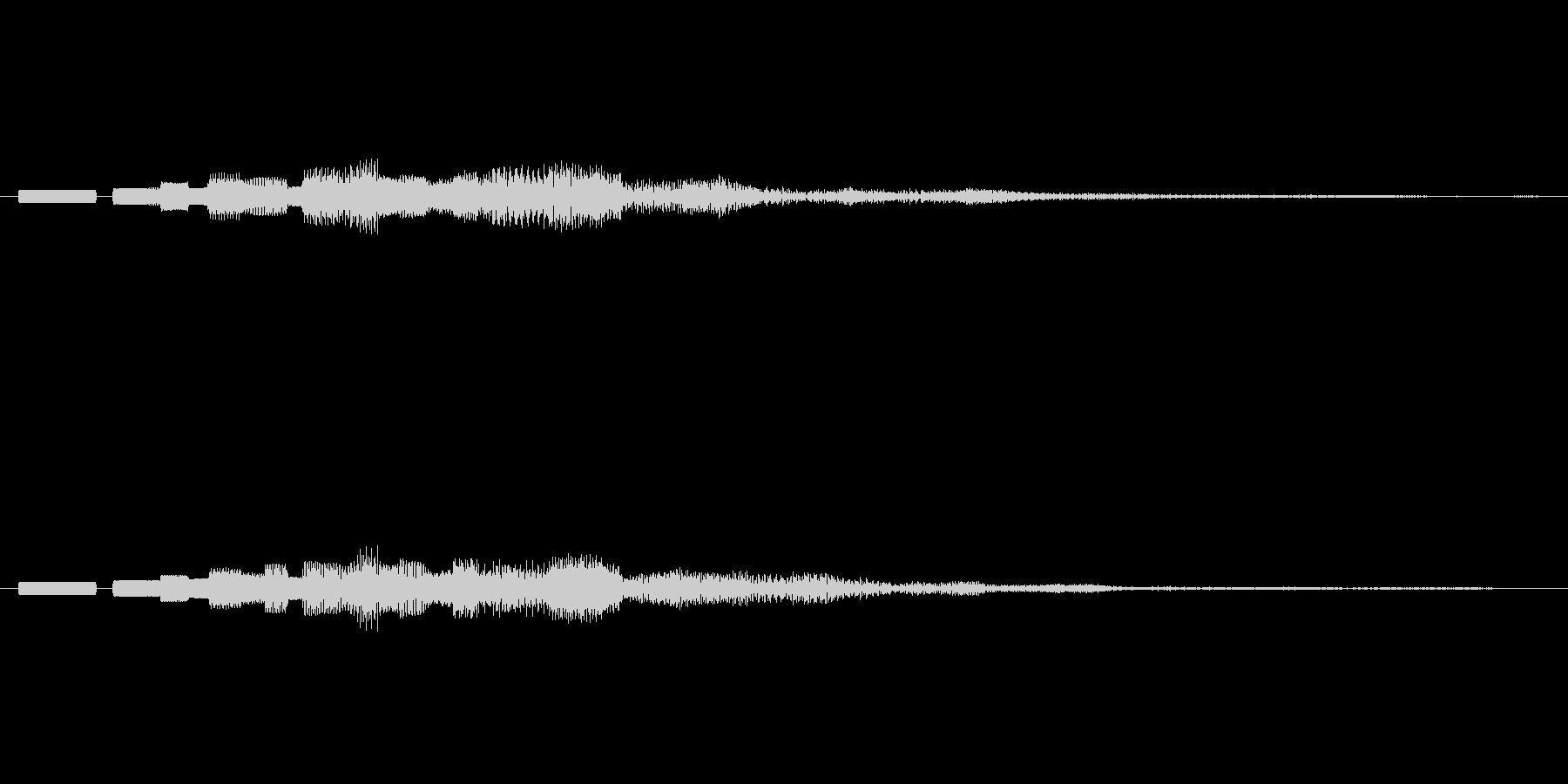 ピロピロピロッ↓(PC終了音、ロボット)の未再生の波形
