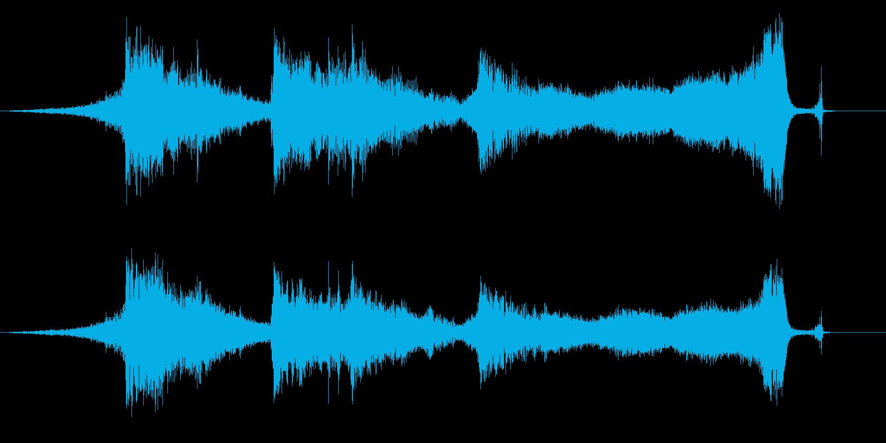 ホラー映画、ドラマ向き楽曲。効果音とし…の再生済みの波形