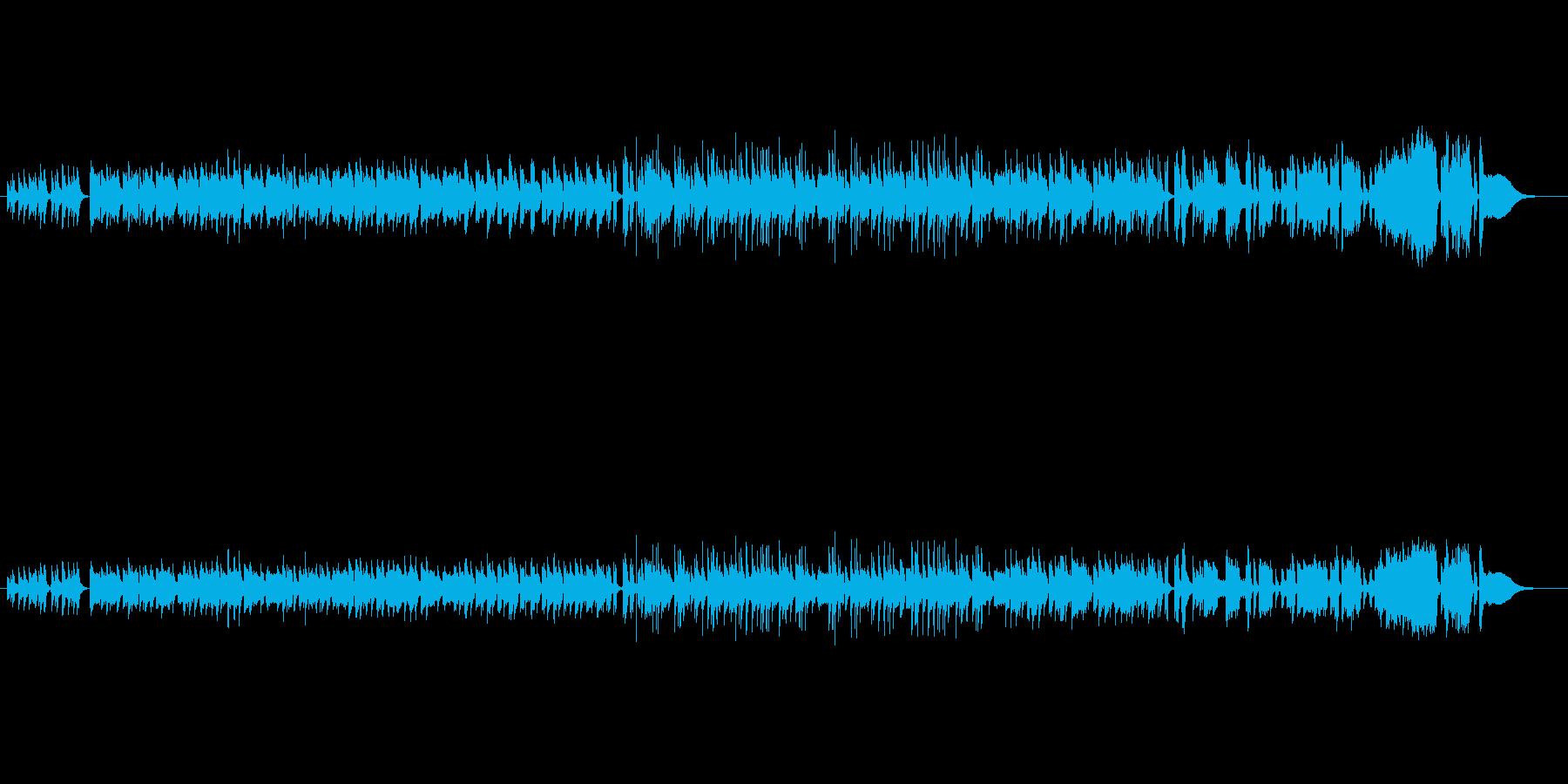 古き良き時代のノスタルジックなピアノの再生済みの波形