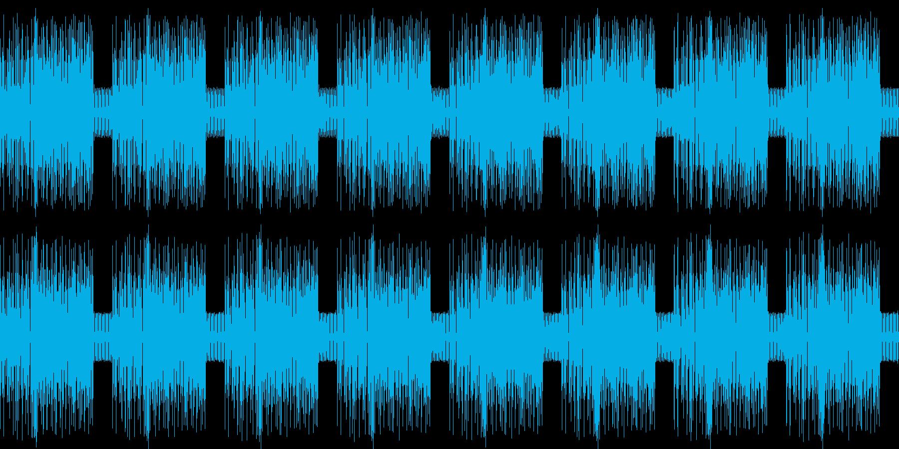 緊迫感のあるビートの再生済みの波形
