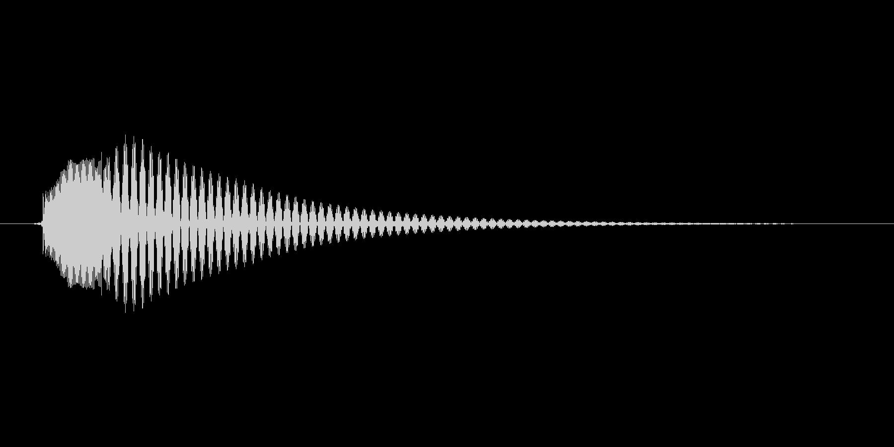 「テテンッ」スマホアプリのタッチ音想定。の未再生の波形