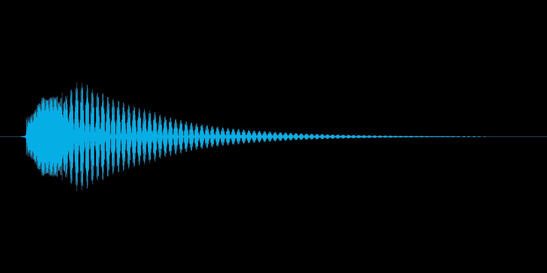 「テテンッ」スマホアプリのタッチ音想定。の再生済みの波形