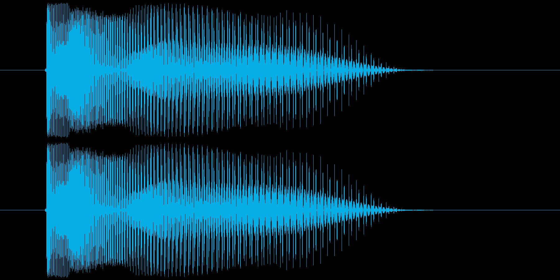 シューティングゲーム_弾_発射音2の再生済みの波形