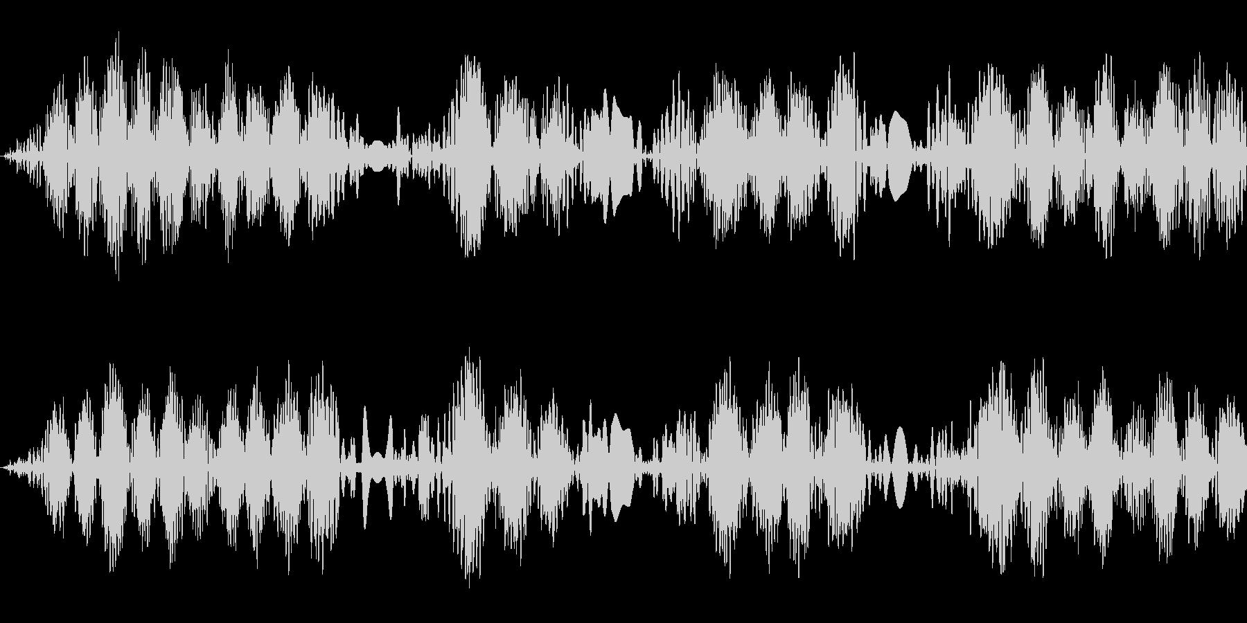 キュパキュパ(レコードスクラッチの音)の未再生の波形