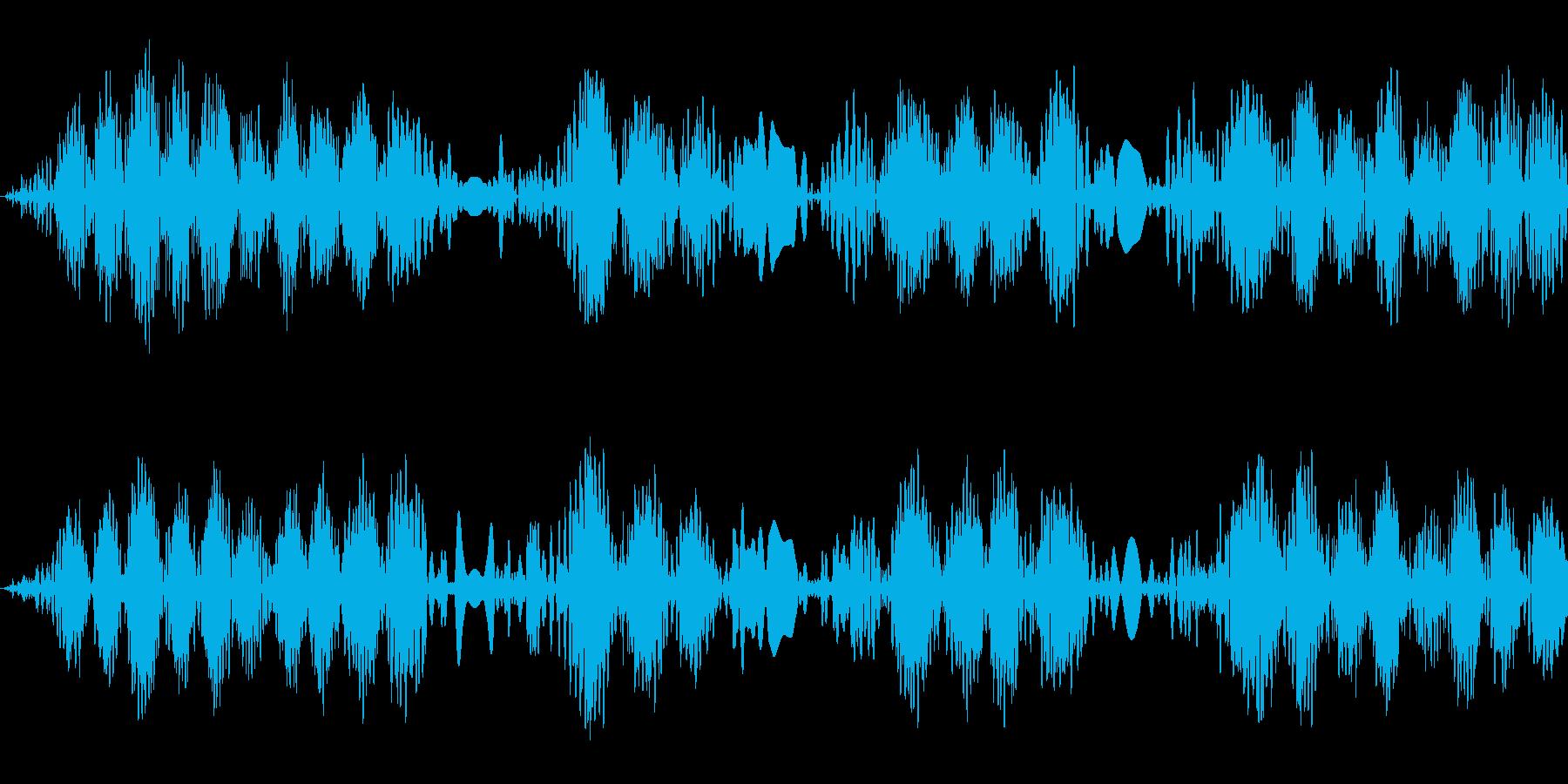 キュパキュパ(レコードスクラッチの音)の再生済みの波形