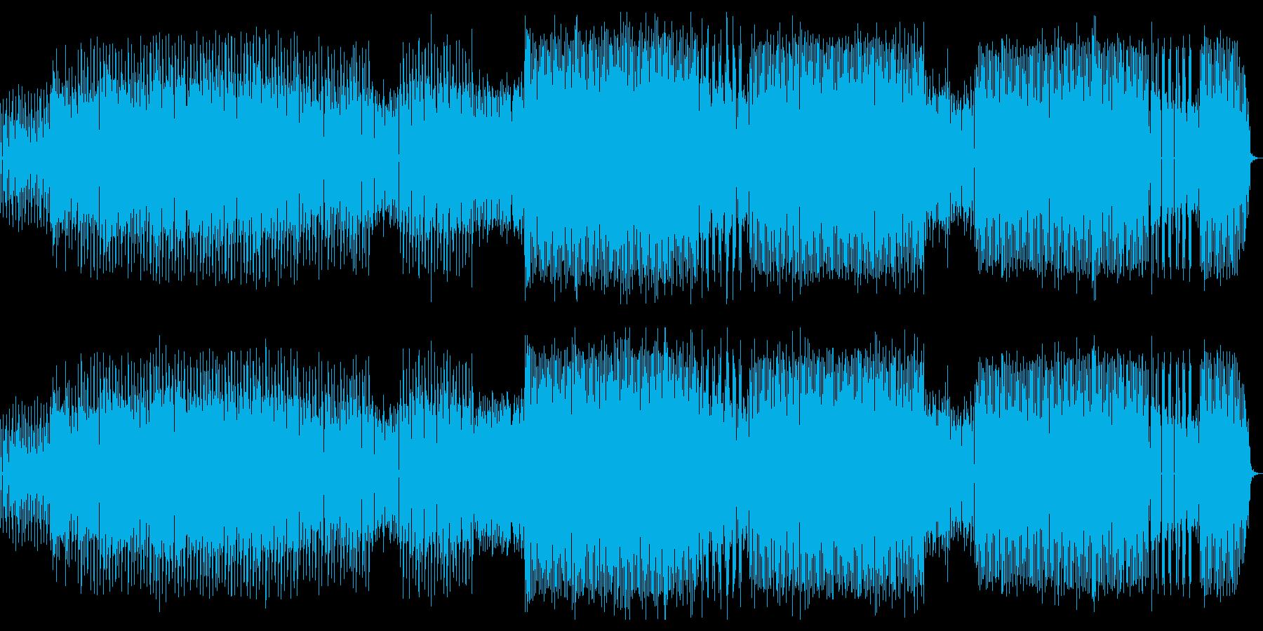 疾走感のある感動系ピアノブレイクビーツの再生済みの波形