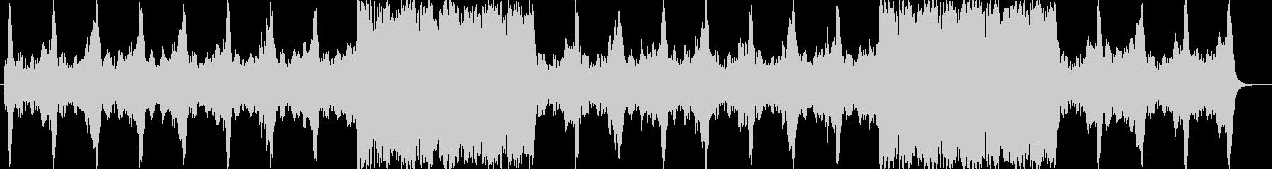 壮大で旋律のオーケストラサウンドの未再生の波形
