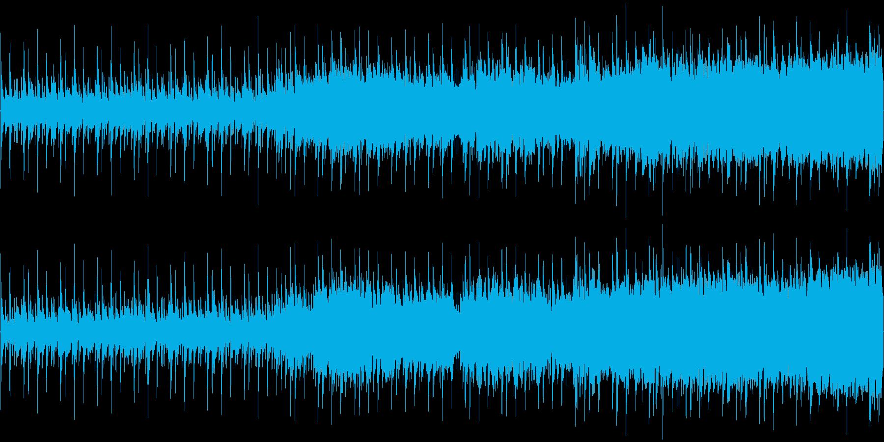 爽やか系のBGM(ループ)の再生済みの波形
