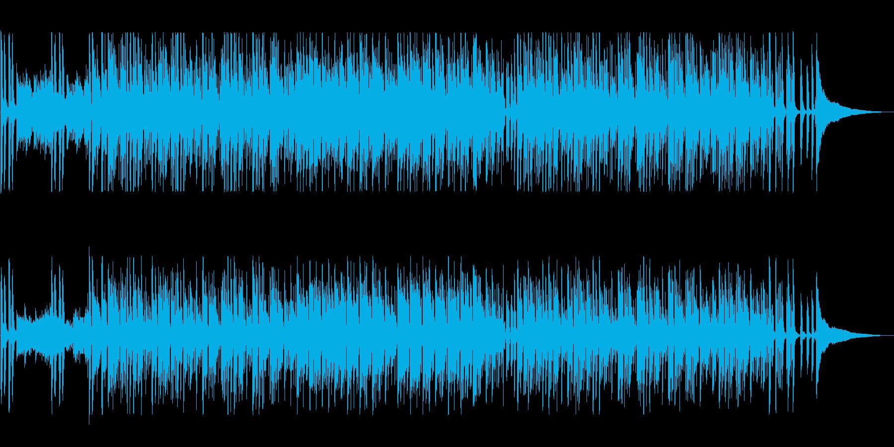 休日のリラックスタイム、口笛のボサノヴァの再生済みの波形