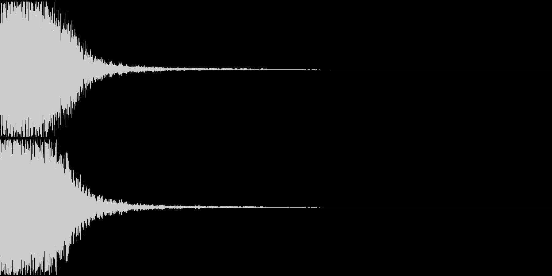 テレビ番組・CM等テロップ(キュイーン)の未再生の波形