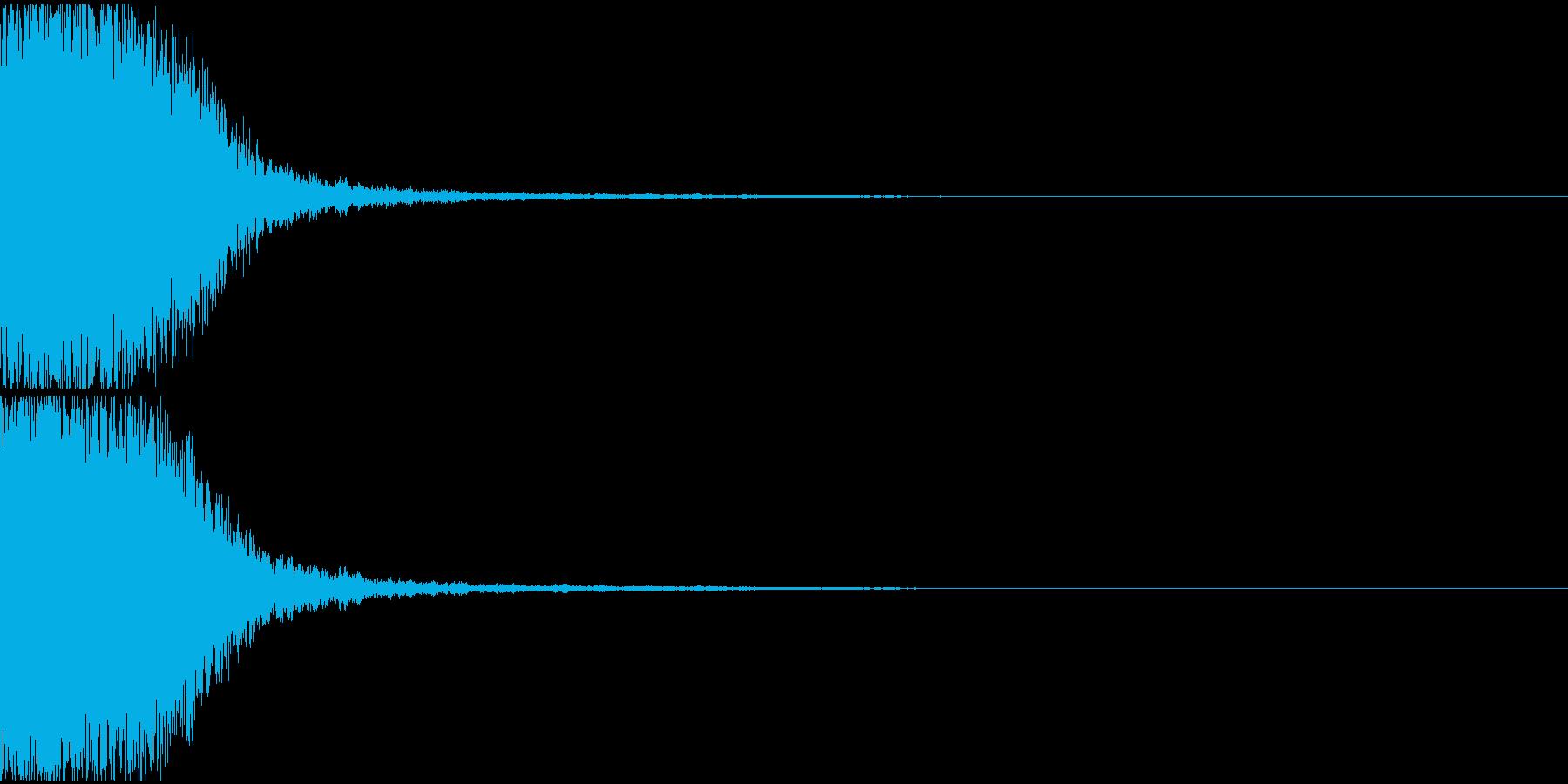 テレビ番組・CM等テロップ(キュイーン)の再生済みの波形