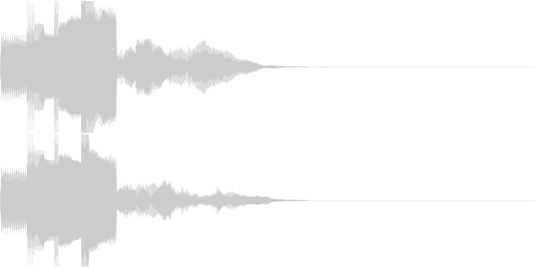決定音、スタート音、サウンドロゴの未再生の波形