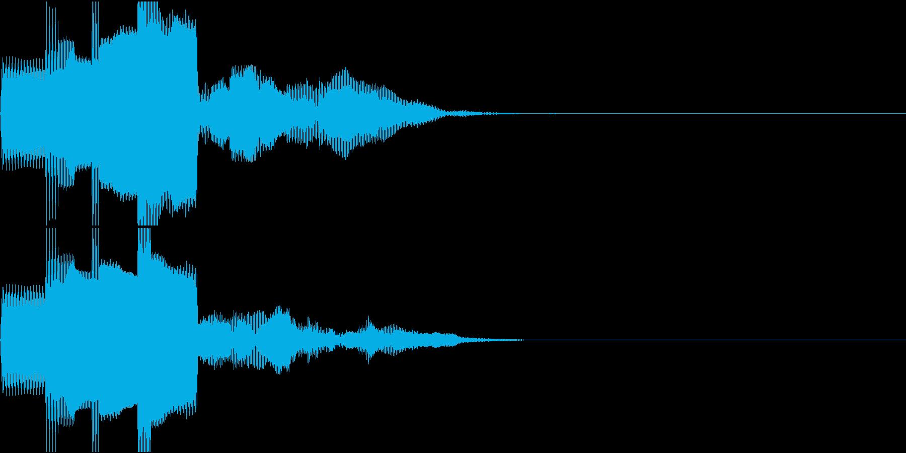 決定音、スタート音、サウンドロゴの再生済みの波形