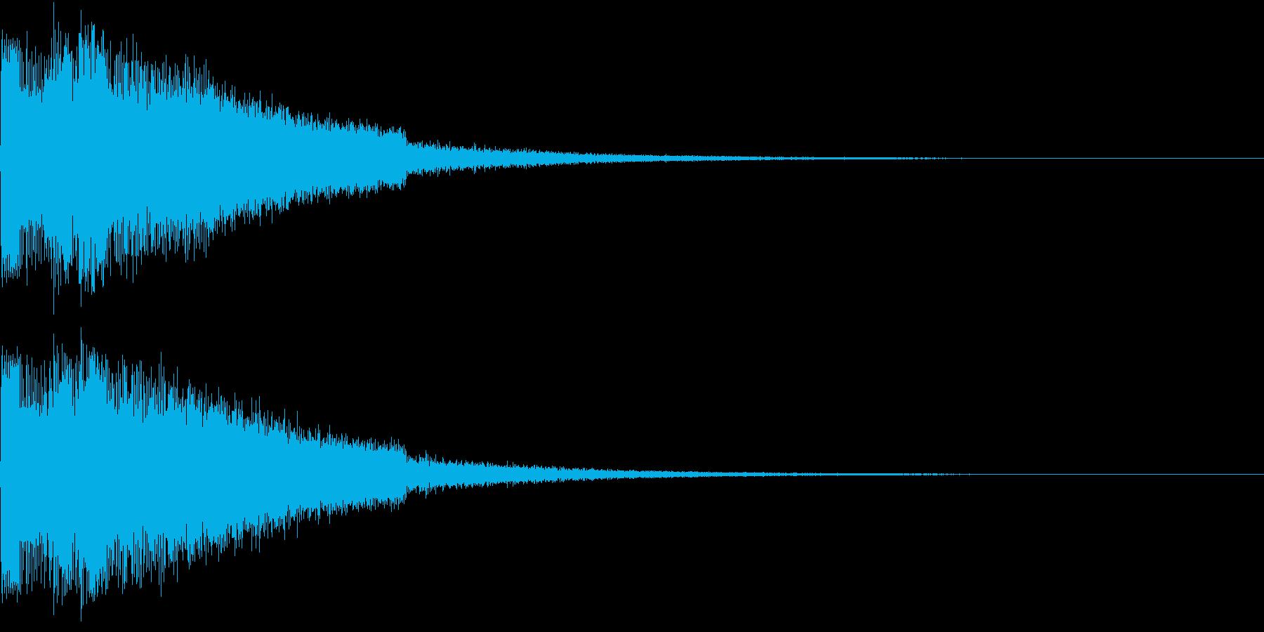 ピキューン ジャンプ ポヨーン Aの再生済みの波形