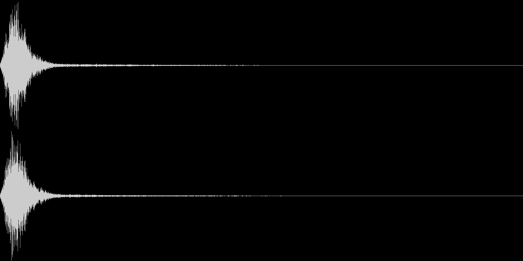 Ninjya 忍者 クナイ攻撃SE 1の未再生の波形