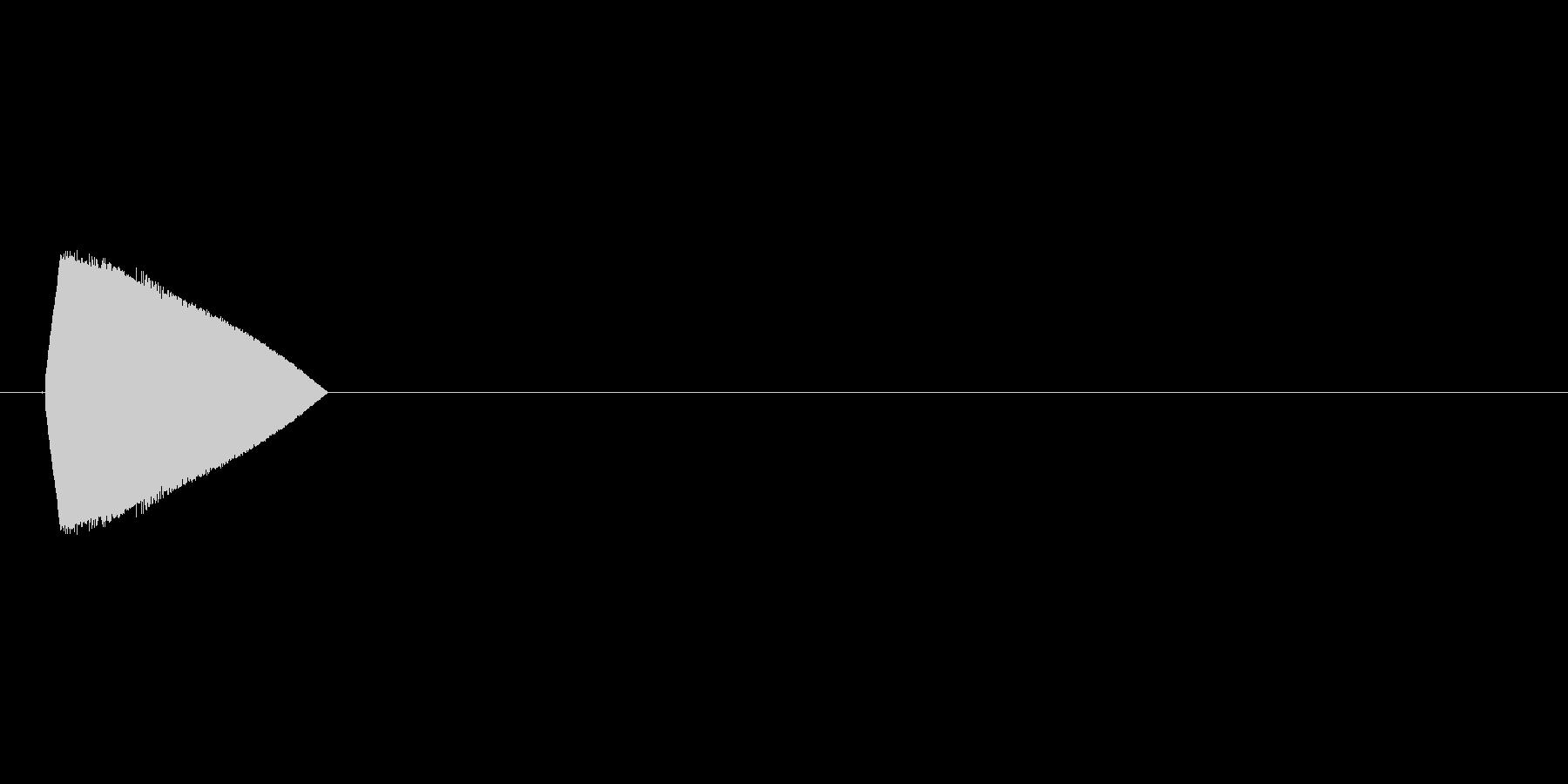 8bit_選択音 ポヨン高音の未再生の波形