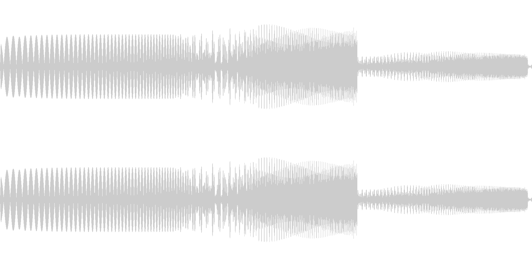 ピュイ かわいいカーソル音の未再生の波形