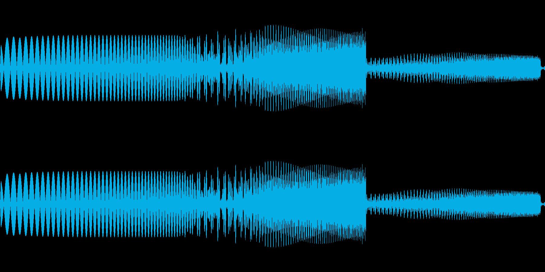 ピュイ かわいいカーソル音の再生済みの波形