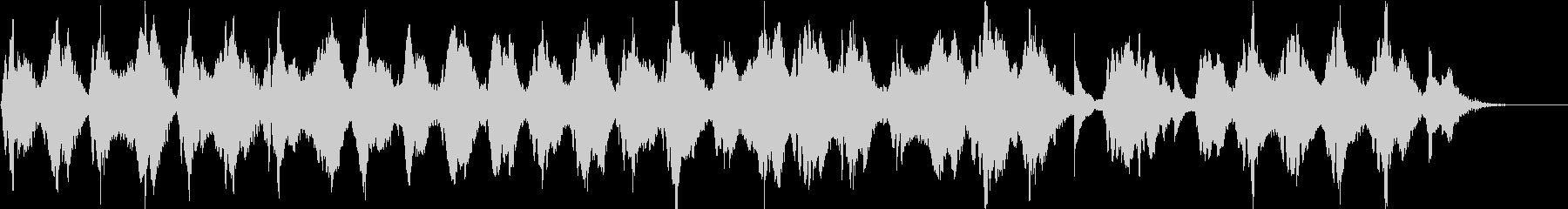 二胡・ピアノによるアンビエンス楽曲の未再生の波形